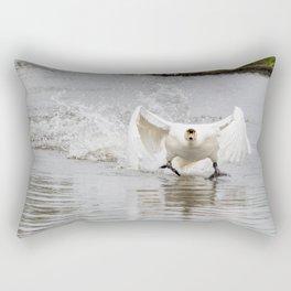 Swan take off Rectangular Pillow