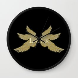 Lucifer with Wings Light Wall Clock