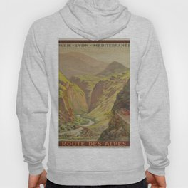 Vintage poster - Route des Alpes, France Hoody