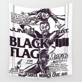 Black Flag Show Flyer Wall Tapestry