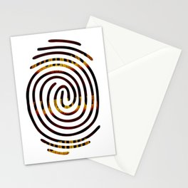 Fingerprint Piano Music Lover Stationery Cards