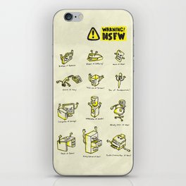 Not Safe For Work iPhone Skin