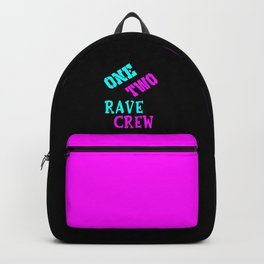One two rave crew rave logo Backpack