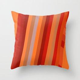 Wild Red Stripes Throw Pillow