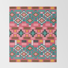 Multicolored joyful shapes Throw Blanket