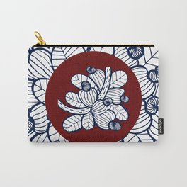 Navy Cashew Apple Carry-All Pouch