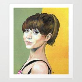 Cristin Milioti in oil Art Print