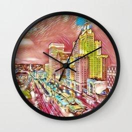 Downtown Providence, Rhode Island Portrait by Jeanpaul Ferro Wall Clock