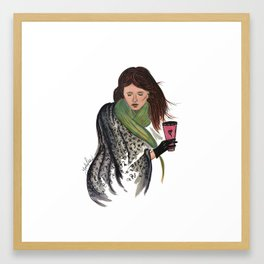 Hello Fall...and lattes Framed Art Print