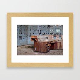 Derelict Control Room Desk Framed Art Print