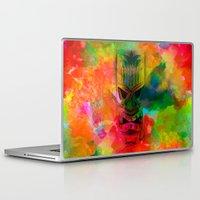 karu kara Laptop & iPad Skins featuring Tiki Kara by Ionic Slasher