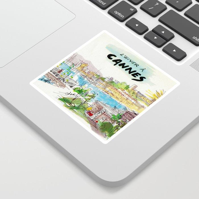 Winter In Cannes Sticker