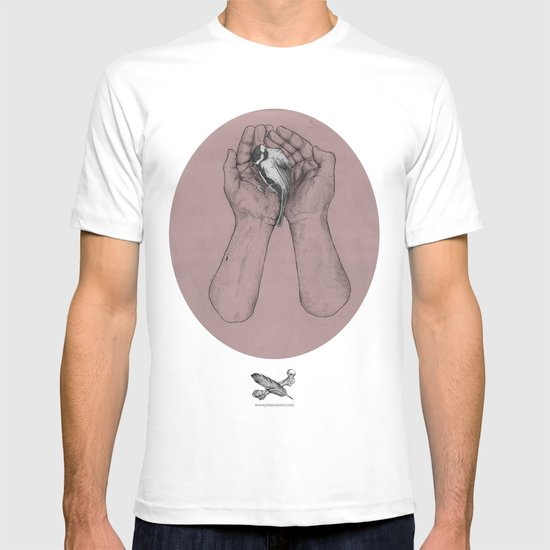 Hes got the whole bird in his hands T-shirt