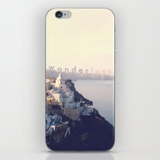 Wanderlust (Santorini) iPhone & iPod Skin