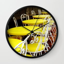 Outdoor Cafe Wall Clock