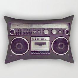Retro Boombox Rectangular Pillow