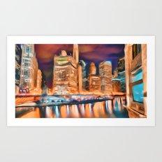 Windy City  Art Print