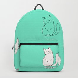 White Cats around Mint Backpack