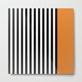 Liquorice allsorts, orange Metal Print