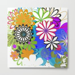 Art Flowers V17 Metal Print