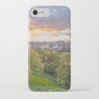 edinburgh iPhone & iPod Cases featuring EDINBURGH by Marte Stromme