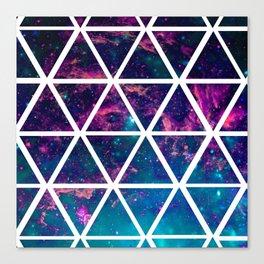 GALAXY TRIANGLES Canvas Print