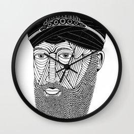 Sikh Guru with Fully Sick Beard and Bejeweled Turban Wall Clock
