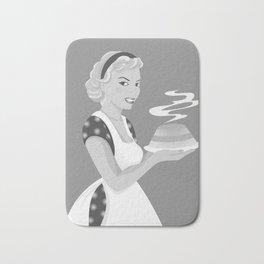 Beautiful girl with cake Bath Mat