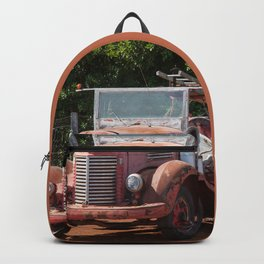 Antique Fire Truck Backpack