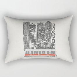 Boston City Illustration Rectangular Pillow
