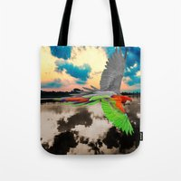 parrot Tote Bags featuring Parrot by Cs025