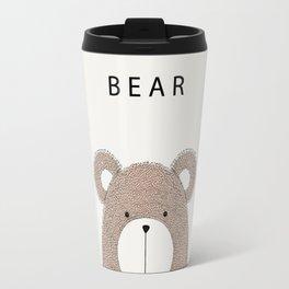 Cute hand drawn bear design Travel Mug
