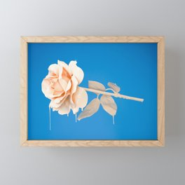 Pink Rose Framed Mini Art Print