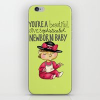 leslie knope iPhone & iPod Skins featuring Leslie Knope Compliments: Sophisticated Baby by Shebanimal