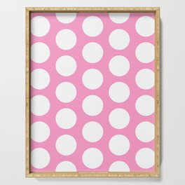 White circles on pink Serving Tray
