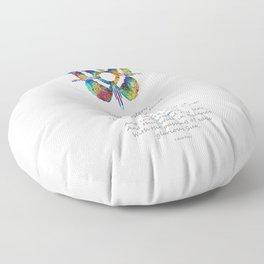 Native American Art - Sun Symbol Butterfly Healing Prayer - Sharon Cummings Floor Pillow