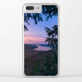 Sunset over Keuka Clear iPhone Case