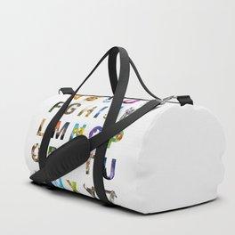 Nature Alphabet Duffle Bag