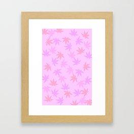 Pink Kush Leaf Framed Art Print