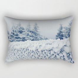 frosty fence Rectangular Pillow