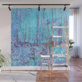 Van Gogh Trees & Underwood Aqua Lavender Wall Mural