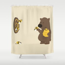 Bee game Shower Curtain