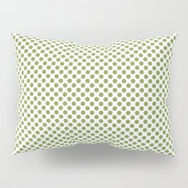 Peridot Polka Dots Pillow Sham