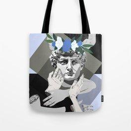 Blue David Tote Bag