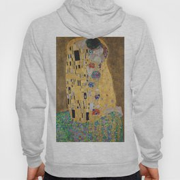 Gustav Klimt, The Kiss (Lovers), 1908 - Reproduction under Belvedere, Vienna, Creative Commons License CC BY-SA 4.0 Hoody