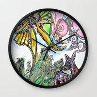 fawn Wall Clocks featuring Fawn by Dawn Patel Art