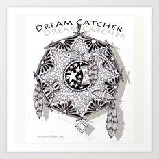 Zentangle Dreamcatcher Art Print