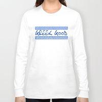 greek Long Sleeve T-shirts featuring Greek god greek key by anto harjo