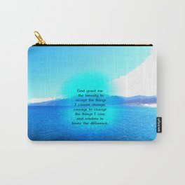 Serenity Prayer With Blue Ocean and Amazing Sky Carry-All Pouch