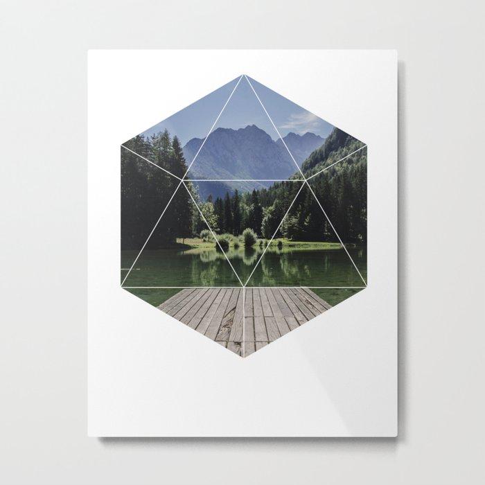 Beautiful Nature  Geometric Photography Metal Print